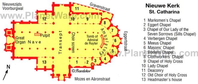 nieuwe-kerk-in-amsterdam-st-catherine-map